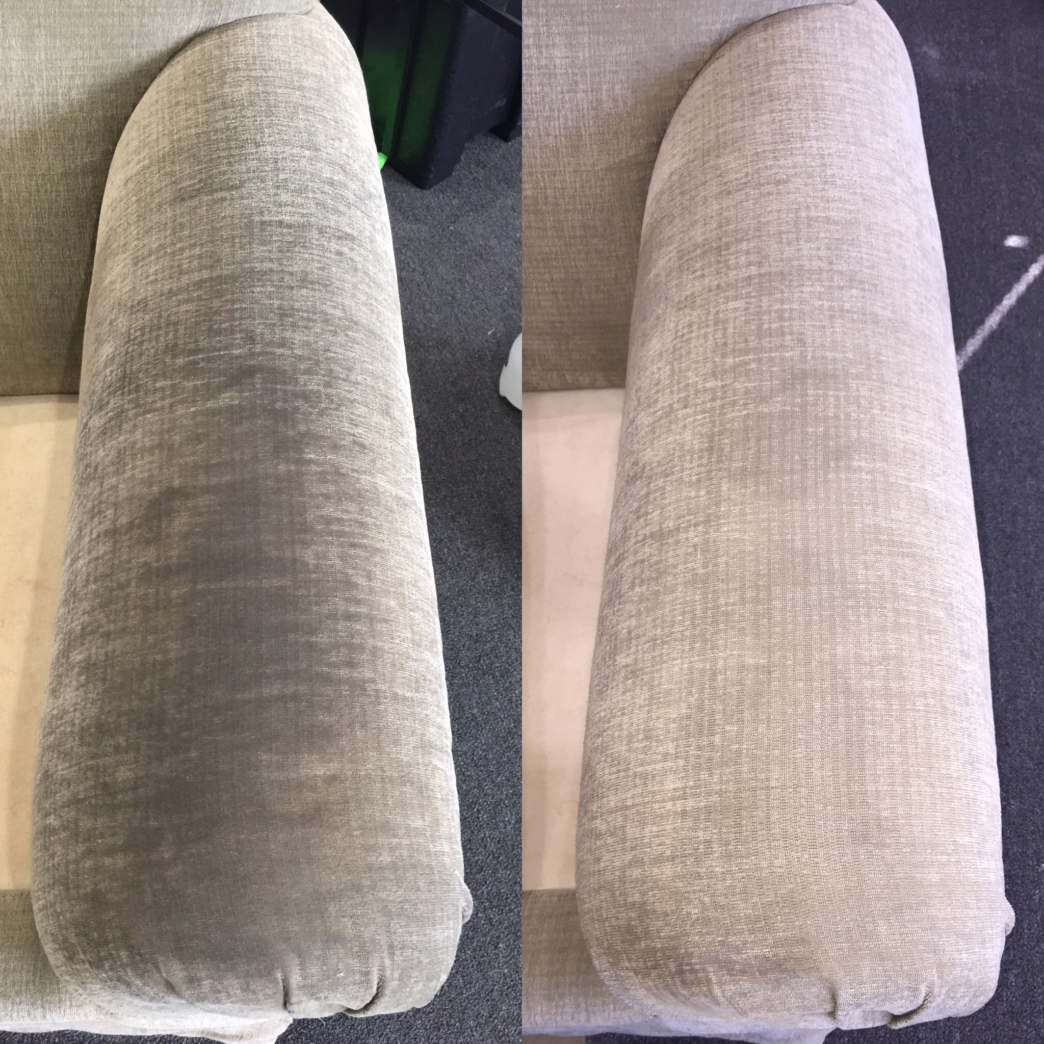 Restoration of upholstery's original look and feel.
