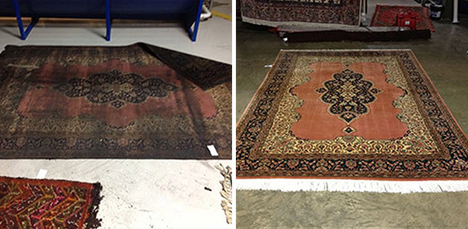 Oriental Rug Cleaning Before And After Cunninghams Rug