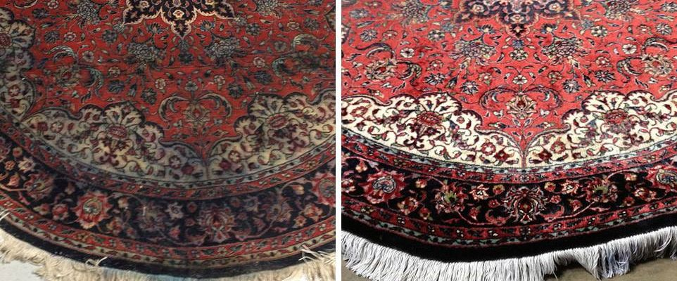Cunningham's Rug Cleaning before and after rug cleaning photo